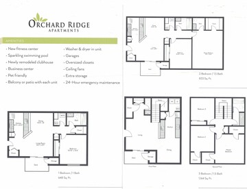 Floor Plans Orchard Ridge Apartments Warsaw In